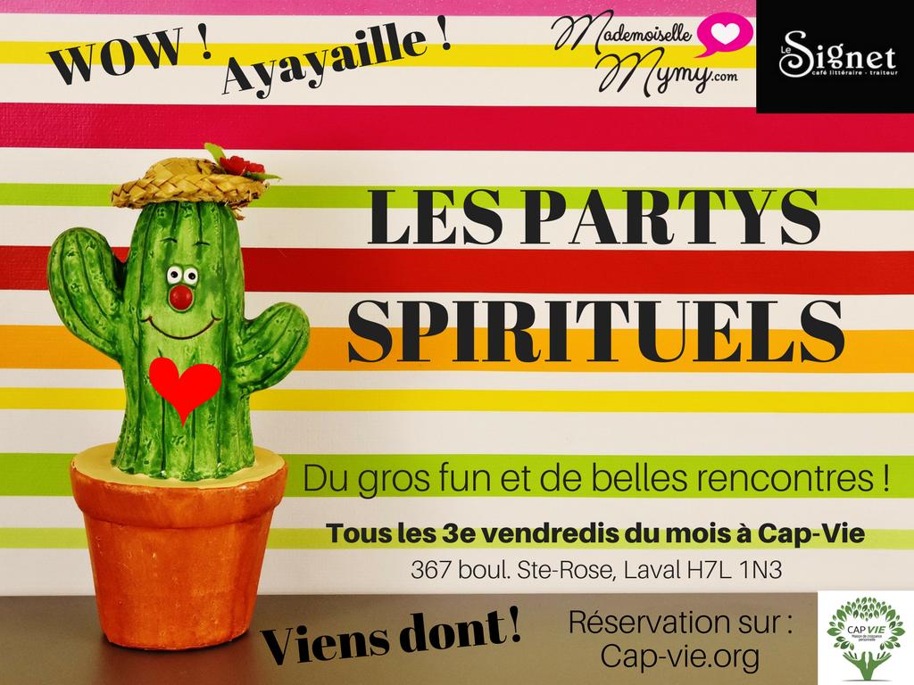 les partys spirituels cap vie mademoiselle mymy